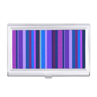 Blaue und lila vertikale Streifen Visitenkarten Dose