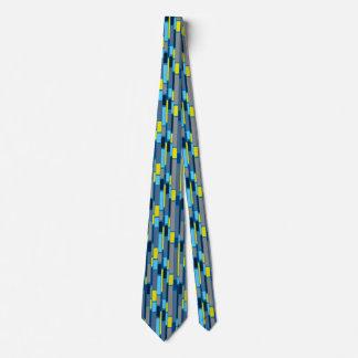 Blaue und Limone grüne Sechzigerjahre retro Krawatte