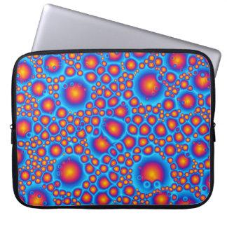 Blaue und orange Blasen Laptopschutzhülle