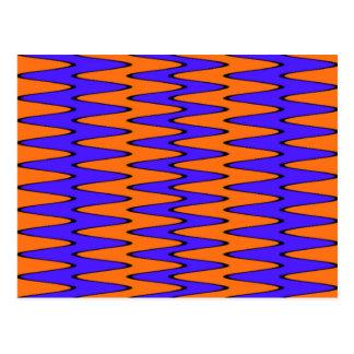 Blaue und orange optische Täuschung Postkarte