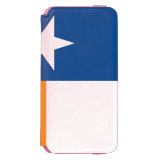 Blaue und orange Texas-Flagge Incipio Watson™ iPhone 6 Geldbörsen Hülle