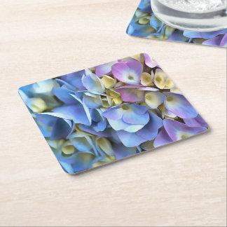 Blaue und rosa Hydrangea-Blumen Rechteckiger Pappuntersetzer