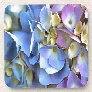 Blaue und rosa Hydrangea-Blumen Untersetzer