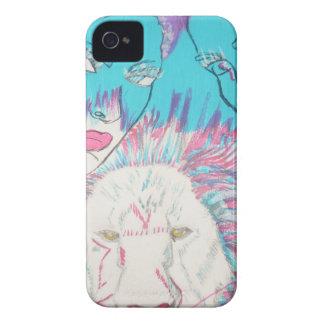 Blaue und rosa Löwen Case-Mate iPhone 4 Hülle