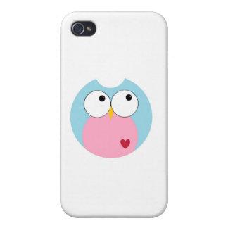 Blaue und rosa Mod-Eule iPhone 4 Schutzhülle