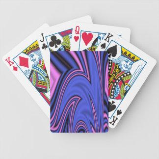 Blaue und rosa polare Kunst Bicycle Spielkarten