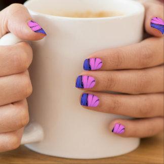 Blaue und rosa polare Kunst Minx Nagelkunst