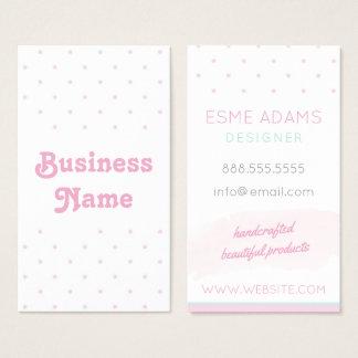 Blaue und rosa Tupfen-Visitenkarte Visitenkarte