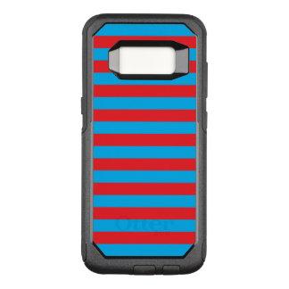 Blaue und rote horizontale Streifen OtterBox Commuter Samsung Galaxy S8 Hülle