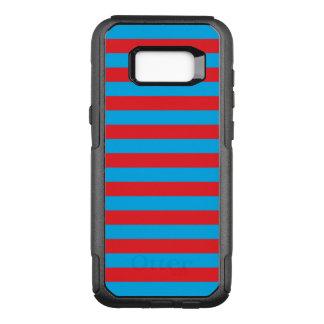 Blaue und rote horizontale Streifen OtterBox Commuter Samsung Galaxy S8+ Hülle