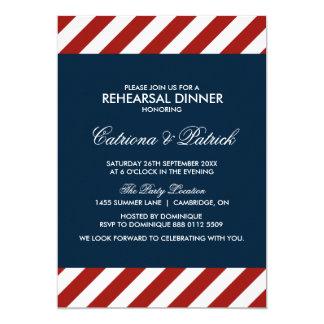 Blaue und rote SeeProben-Abendessen-Einladung 12,7 X 17,8 Cm Einladungskarte