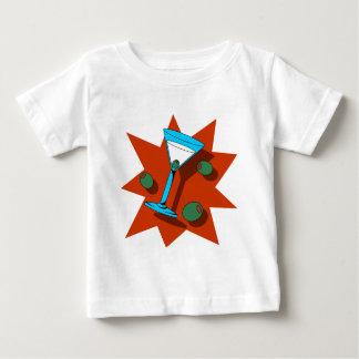 Blaue und rote Sternexplosion Martini Baby T-shirt