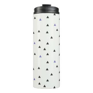 Blaue und schwarze Dreieck-Flasche Thermosbecher