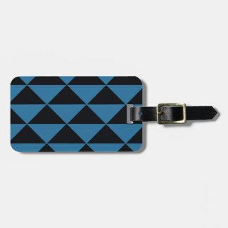Blaue und schwarze Dreiecke Gepäckanhänger