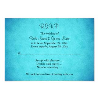Blaue und schwarze Hochzeit 8,9 X 12,7 Cm Einladungskarte