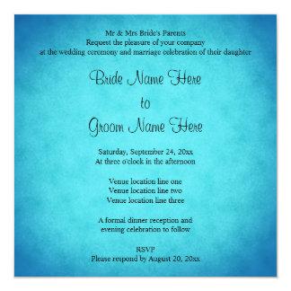 Blaue und schwarze Hochzeit Quadratische 13,3 Cm Einladungskarte