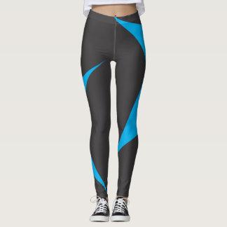 blaue und schwarze Mustergamaschen Leggings