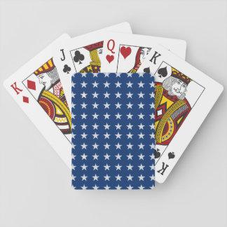 Blaue und weiße amerikanische Stern-Spielkarten Spielkarten