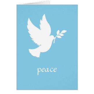 Blaue und weiße Friedenstaube Karte