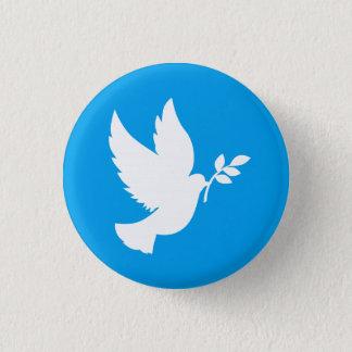 Blaue und weiße Friedenstaube Runder Button 3,2 Cm