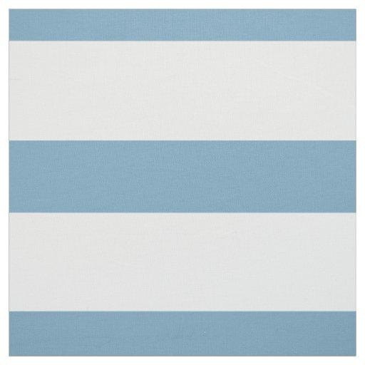Blaue und weiße große Streifen Carolinas Stoff