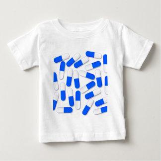 Blaue und weiße Kapseln Baby T-shirt
