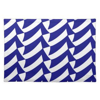 Blaue und weiße Karos Tischset