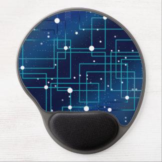 Blaue und weiße Leiterplatte Gel Mousepad