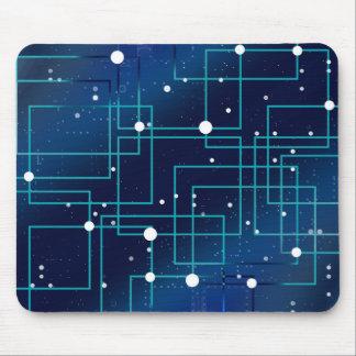 Blaue und weiße Leiterplatte Mousepad