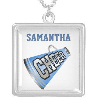 Blaue und weiße Megaphon-Cheerleader-Halskette