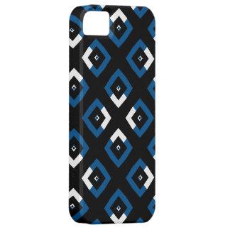 Blaue und weiße Rauten-Quadrate Schutzhülle Fürs iPhone 5
