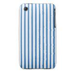 Blaue und weiße Streifen Case-Mate iPhone 3 Hüllen