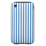 Blaue und weiße Streifen iPhone 3 Tough Cover