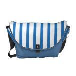 Blaue und weiße Streifen Kurier Taschen