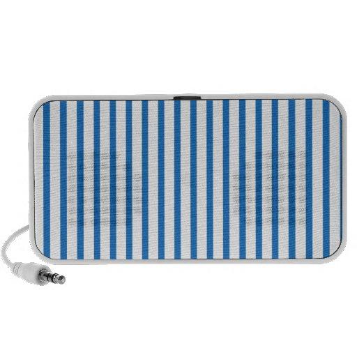 Blaue und weiße Streifen Laptop Lautsprecher