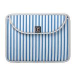 Blaue und weiße Streifen MacBook Pro Sleeve