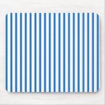 Blaue und weiße Streifen Mousepad