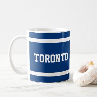 Blaue und weiße Tasse Torontos