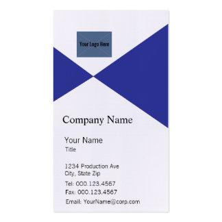 Blaue und weiße Visitenkarte-Schablone Visitenkarten