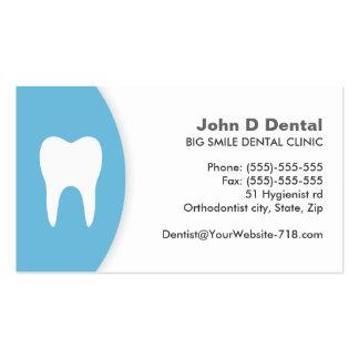 Blaue und weiße zahnmedizinische visitenkarten vorlage