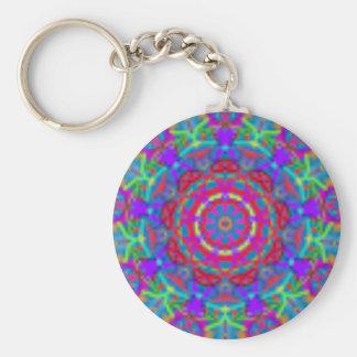 Blaue Universum-Mandala Keychain Schlüsselanhänger