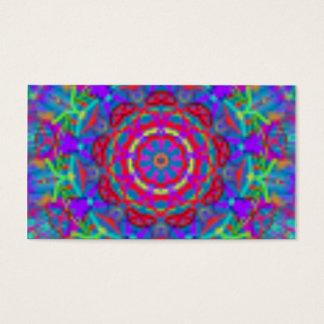 Blaue Universum-Mandala-Visitenkarten Visitenkarten