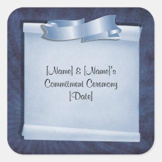 Blaue Verpflichtungs-Zeremonie-Gewohnheits-Aufkleb