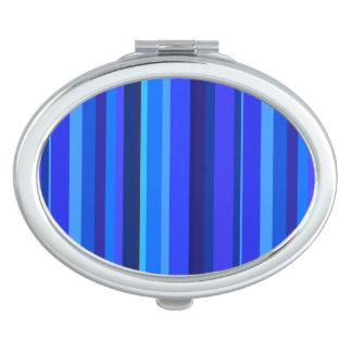 Blaue vertikale Streifen Taschenspiegel