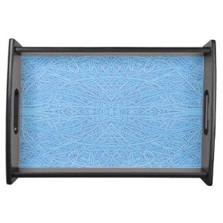 Blaue Verwicklung Tablett