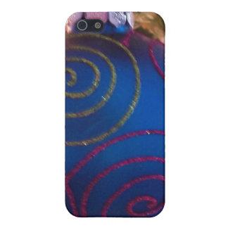 Blaue Verzierungs-glückliches iPhone 5 Cover