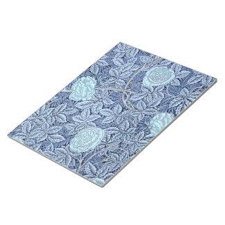 Blaue viktorianische Rosen Notizblock