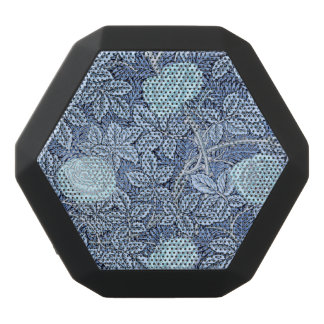 Blaue viktorianische Rosen Schwarze Bluetooth Lautsprecher