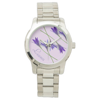 Blaue violette Lavendel Lilly Uhr