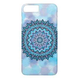 Blaue violette Mandala iPhone 8 Plus/7 Plus Hülle